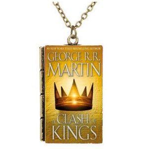 Unique Game of Thrones Book Pendant Necklace